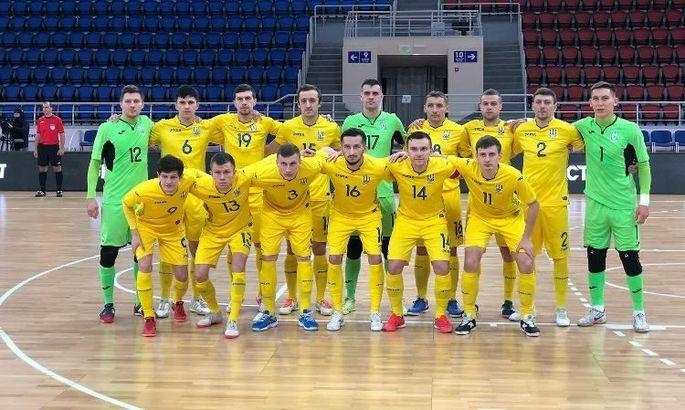 Футзал. Украина в спарринге разгромила Молдову со счетом 8:0