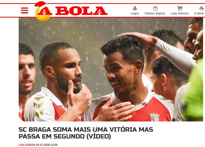Это был праздник расточительства. Обзор португальских СМИ после матча Брага - Заря - изображение 2