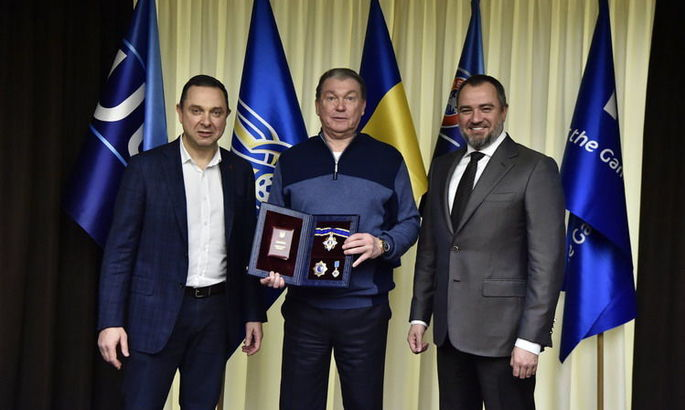 Олег Блохин награжден орденом Ярослава Мудрого II степени