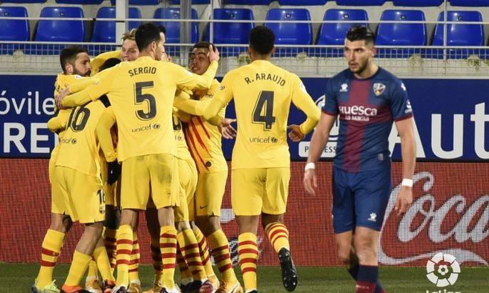 Барселона - Уеска. Дивитися онлайн LIVE пряму відеотрансляцію матчу чемпіонату Іспанії