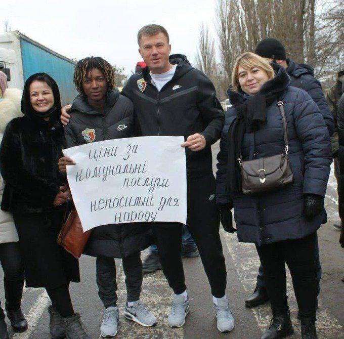 Ворскла в тренді. Максимов і Кане взяли участь у мітингу проти підвищення комунальних тарифів - изображение 1