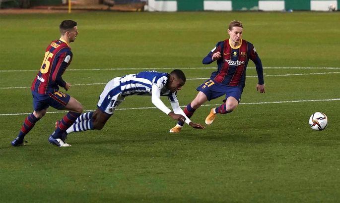 Суперкубок Іспанії. Реал Сосьєдад - Барселона 1:1; пен.: 2:3.Максимально ускладнений маршрут