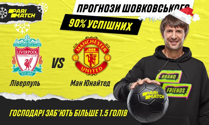 Прогноз Олександра Шовковського на матч Ліверпуль - Манчестер Юнайтед