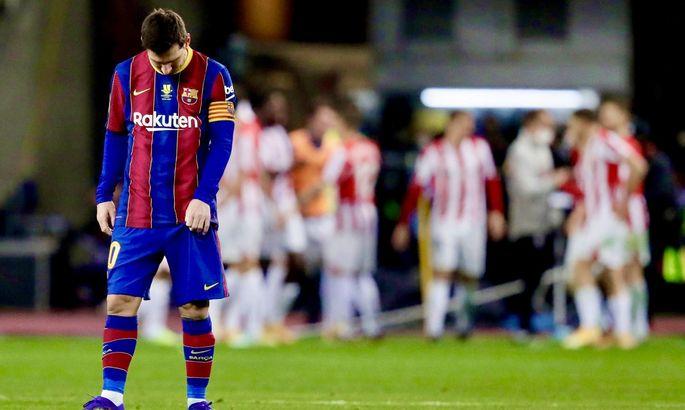Месси наказали за удар соперника в финале Суперкубка Испании