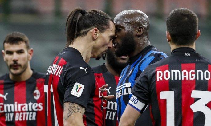 Битва гигантов. Лукаку и Ибрагимович потолкались во время матча кубка Италии