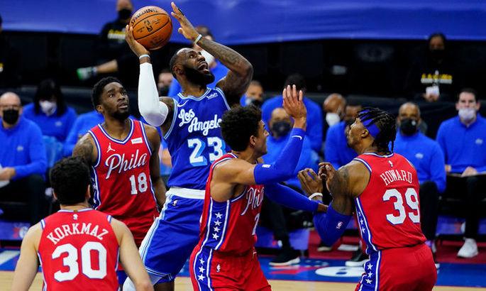 НБА: Філадельфія засмутила Лейкерс, Бруклін в овертаймі добив Атланту