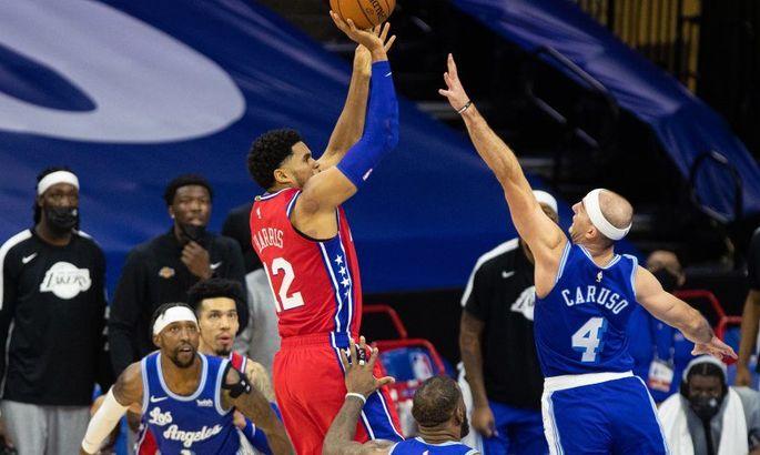 Переможний кидок форварда Філадельфії в кошик Лейкерс – серед найкращих моментів дня в НБА. ВІДЕО