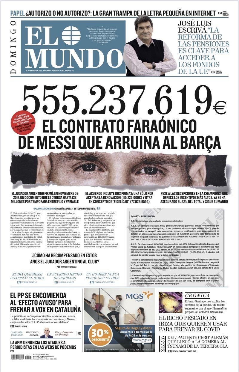 555 млн евро за 4 года: шокирующие детали контракта Месси с Барсой - изображение 1