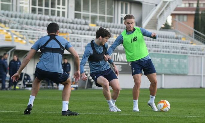 Двое игроков Динамо тренировались по индивидуальной программе