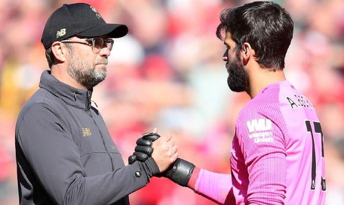 """""""Можливо, у нього замерзли ноги"""". Клопп пояснив результативні помилки Аліссона у матчі з Манчестер Сіті"""
