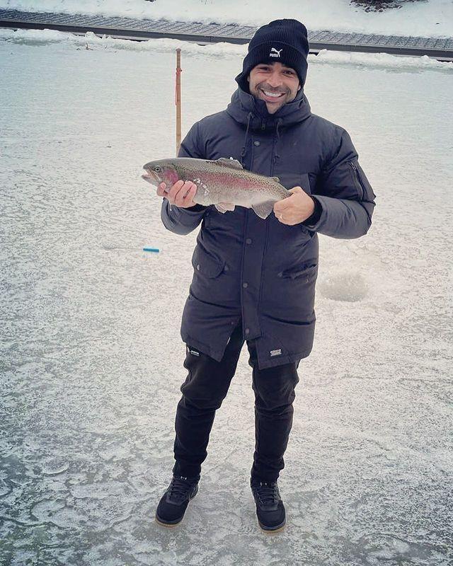 Привык к морозам. Бразилец из Шахтера показал улов на зимней рыбалке. ФОТО - изображение 1