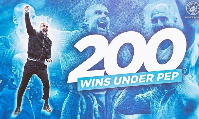 Гвардиола достиг отметки в 200 побед в Манчестер Сити