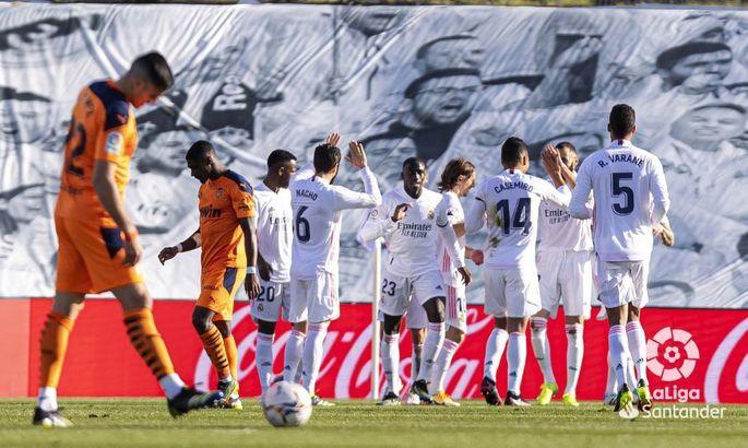 Примера. 23-й тур. Реал - Валенсия 2:0. Мадрид - не сахар, но соперник еще кислее