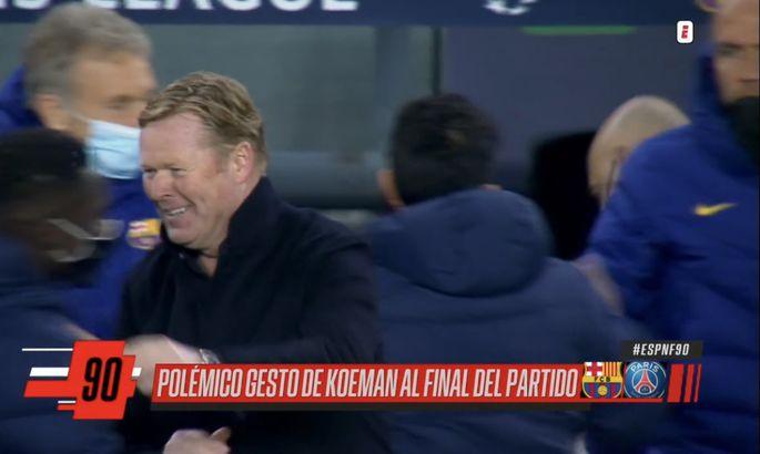 От улыбки станет всем светлей: Куман взбесил фанатов Барселоны своей реакцией на поражение от ПСЖ