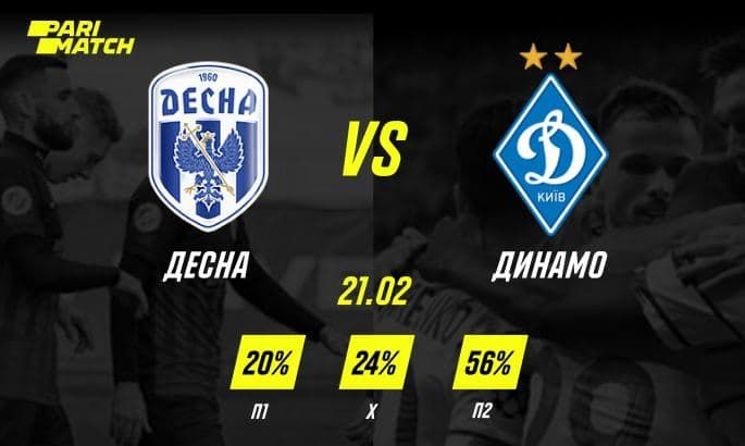 Прогноз на матч Десна - Динамо