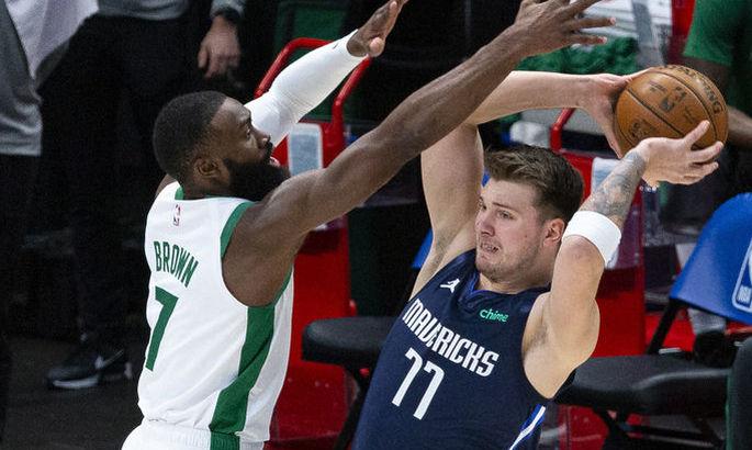 Победный трехочковый Дончича в матче с Бостоном – момент дня в НБА. ВИДЕО