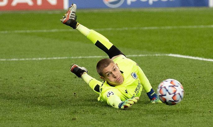 Запасной голкипер Брюгге после матча с Динамо сдал положительный тест на коронавирус
