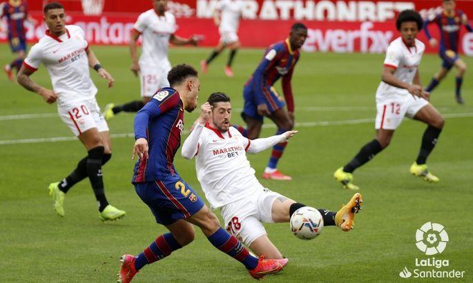 Примера. 25-й тур. Севилья - Барселона 0:2. Каталонский ориентир