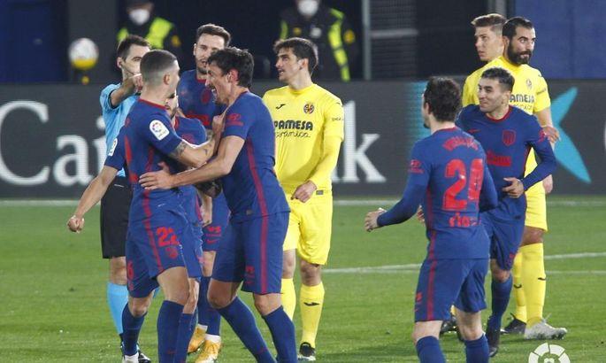 Примера. 25-й тур. Атлетико не пропустил впервые за девять матчей, Вильярреал без побед уже семь туров