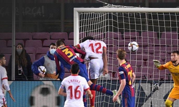 Гол в ворота Севильи стал юбилейным и самым поздним в карьере Жерара Пике