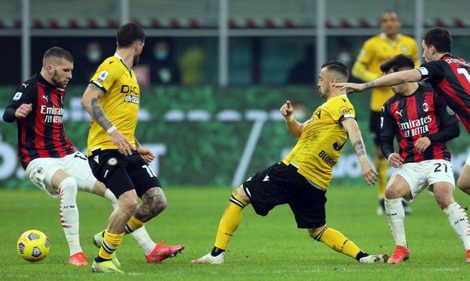 Так чемпионами не становятся. Милан – Удинезе 1:1. Обзор матча Серии А и видео голов