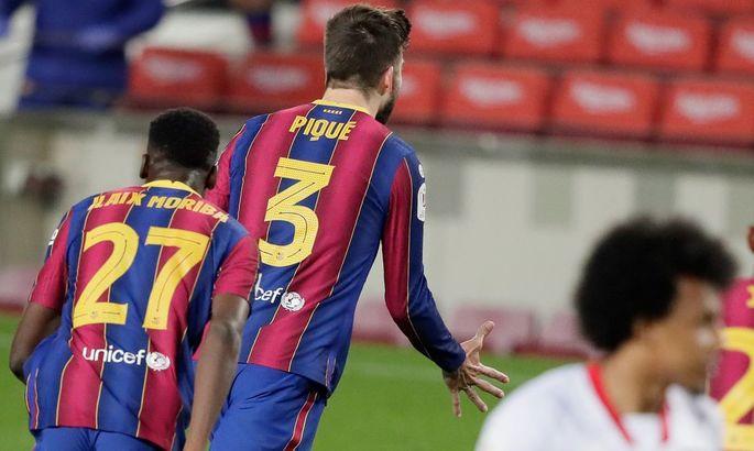 More respect. Барселона ответила на мем от Севильи о Пике и Мбаппе после победы в Кубке Испании