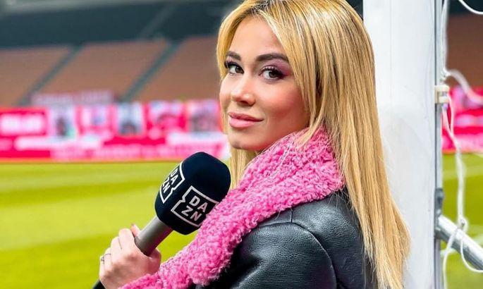 Эффектная журналистка, на которую засмотрелся футболист Ювентуса прямо во время матча. ФОТО