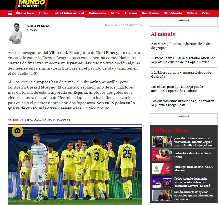 Даже не пощекотали, таланты в Украине ослабевают. Обзор испанских СМИ после матча Вильярреал - Динамо - изображение 3