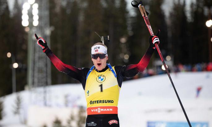 Йоханнес Бё вырвал глобус из рук Легрейда, Экхофф не осилила рекорд Форсберг и другие события этапа Кубка мира в Эстерсунде