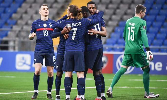 Гризманн установил рекорд сборной Франции по матчах подряд