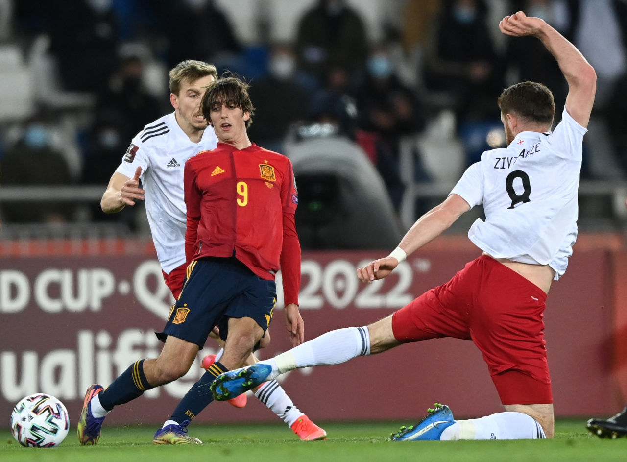 Selection for the 2022 World Cup. Georgia 1-2 Spain. Repetition of bad, but  with a different result ᐉ UA football