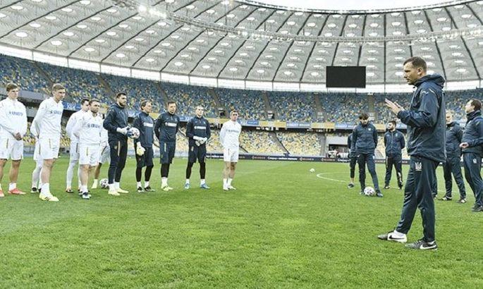 Украина провела финальную тренировку перед Казахстаном - ФОТО