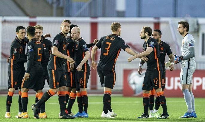 Соперника Украины на Евро прорвало в конце тайма. Гибралтар - Нидерланды 0:7. Обзор матча