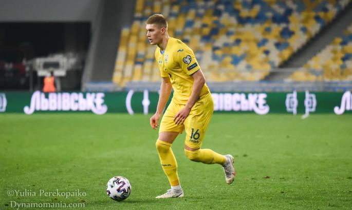 Довбик - первый игрок Днепра-1, который сыграл за сборную Украины