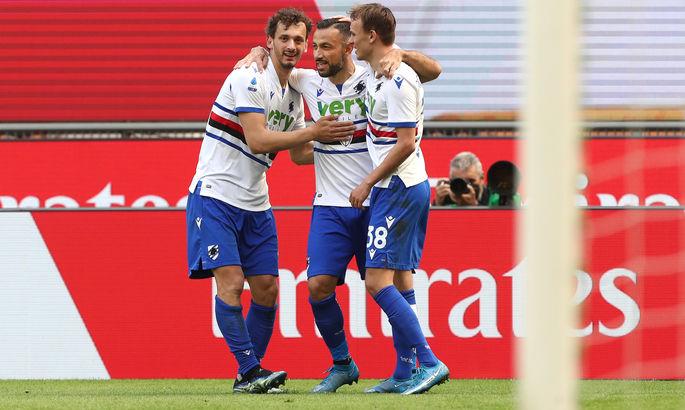 Инстинкт убийцы. 38-летний Квальярелла забил 10-й гол в сезоне в матче с Миланом - ВИДЕО