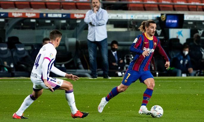 Примера. Барселона - Вальядолид 1:0. Спасительный Дембеле