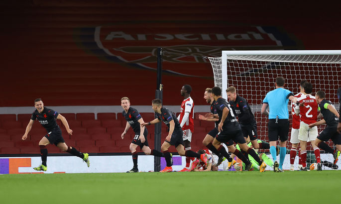 ЛЕ. Арсенал - Славия 1:1. Расточительные канониры упускают победу на 90+4 минуте