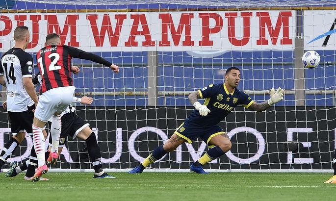 Златан ассистирует и самоустраняется. Парма - Милан 1:3. Видео голов и обзор матча