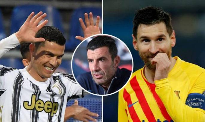 Фигу сравнил Месси и Роналду с трюфелями и икрой, а затем рассказал как роскошно смотрит футбол