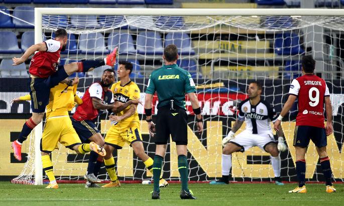 Битва за выживание в Серии А. ВИДЕО, как Кальяри одолел Парму, забив на 91-й и 93-й минутах