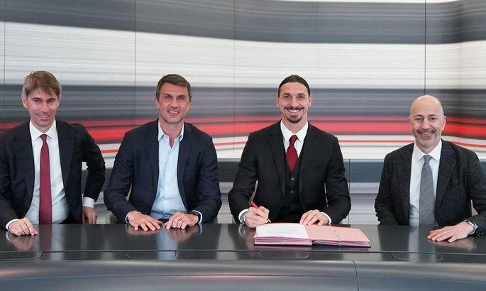 Официально: Златан продлил контракт с Миланом