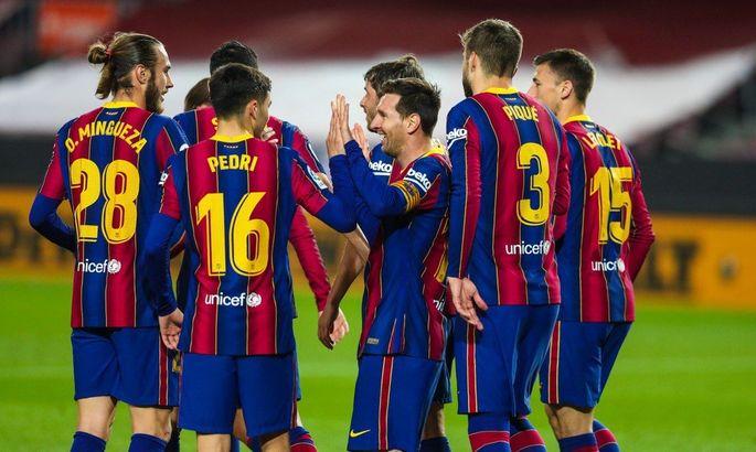 Игроки Барселоны на встрече в доме Месси вдохновляли себя чемпионским скандированием