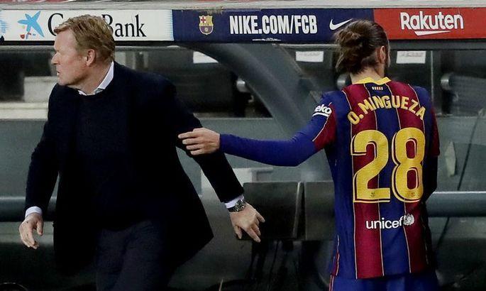 На эмоциях. Куман разозлился на защитника Барселоны, заменил его и даже не пожал руку