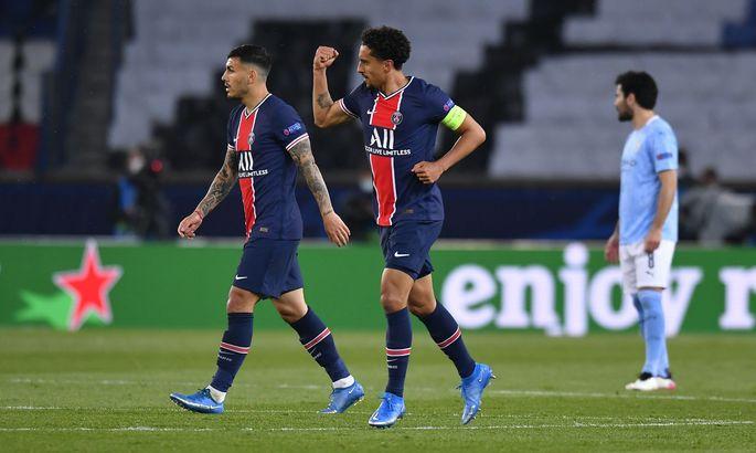 Маркиньос шокирует Гвардиолу. ПСЖ выходит вперед в матче с Манчестер Сити