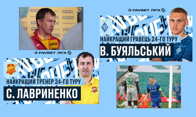 Представители Ингульца и Динамо: определены лучшие тренер и футболист 24-го тура УПЛ