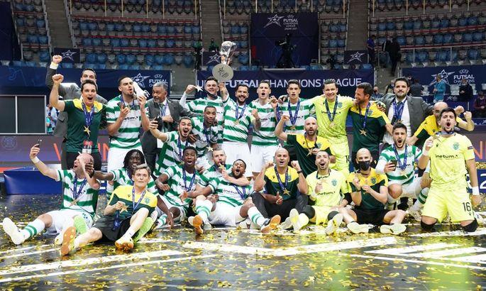 Спортинг оформил камбэк в драматичном финале с Барселоной и выиграл Лигу чемпионов по футзалу