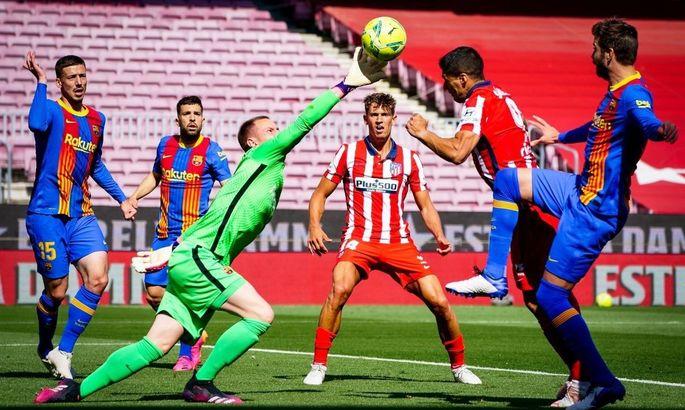 Сыграли в пользу Реала. Барселона - Атлетико 0:0. Обзор матча