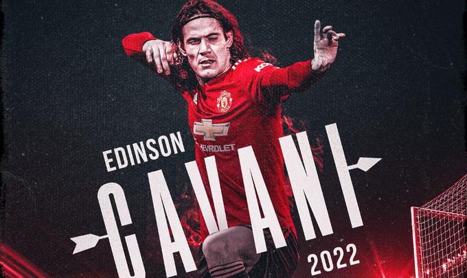 Кавани обновил контракт с Манчестер Юнайтед