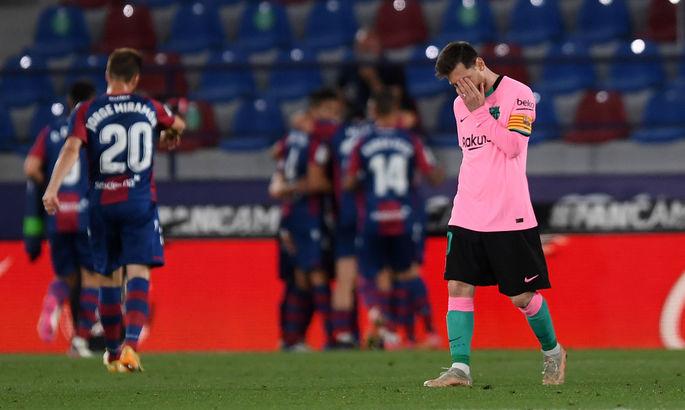 Прощай, золото? Леванте - Барселона 3:3. Видео голов и обзор матча