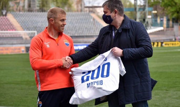 Тищенко провел 200 матчей за Мариуполь